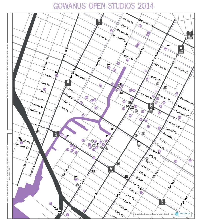 Gowanus Open Studios 2014 map (artsgowanus.org)