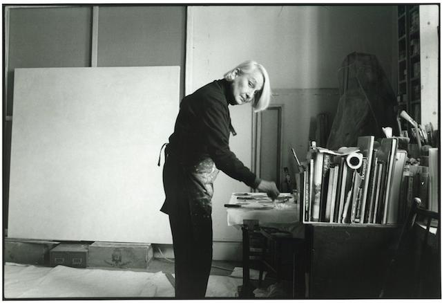 Jane in studio by John Gruen