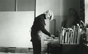 Jane Wilson in her studio, 2095 Broadway, New York. January 8, 1999