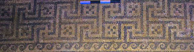 Design motif at the top of the mosaic