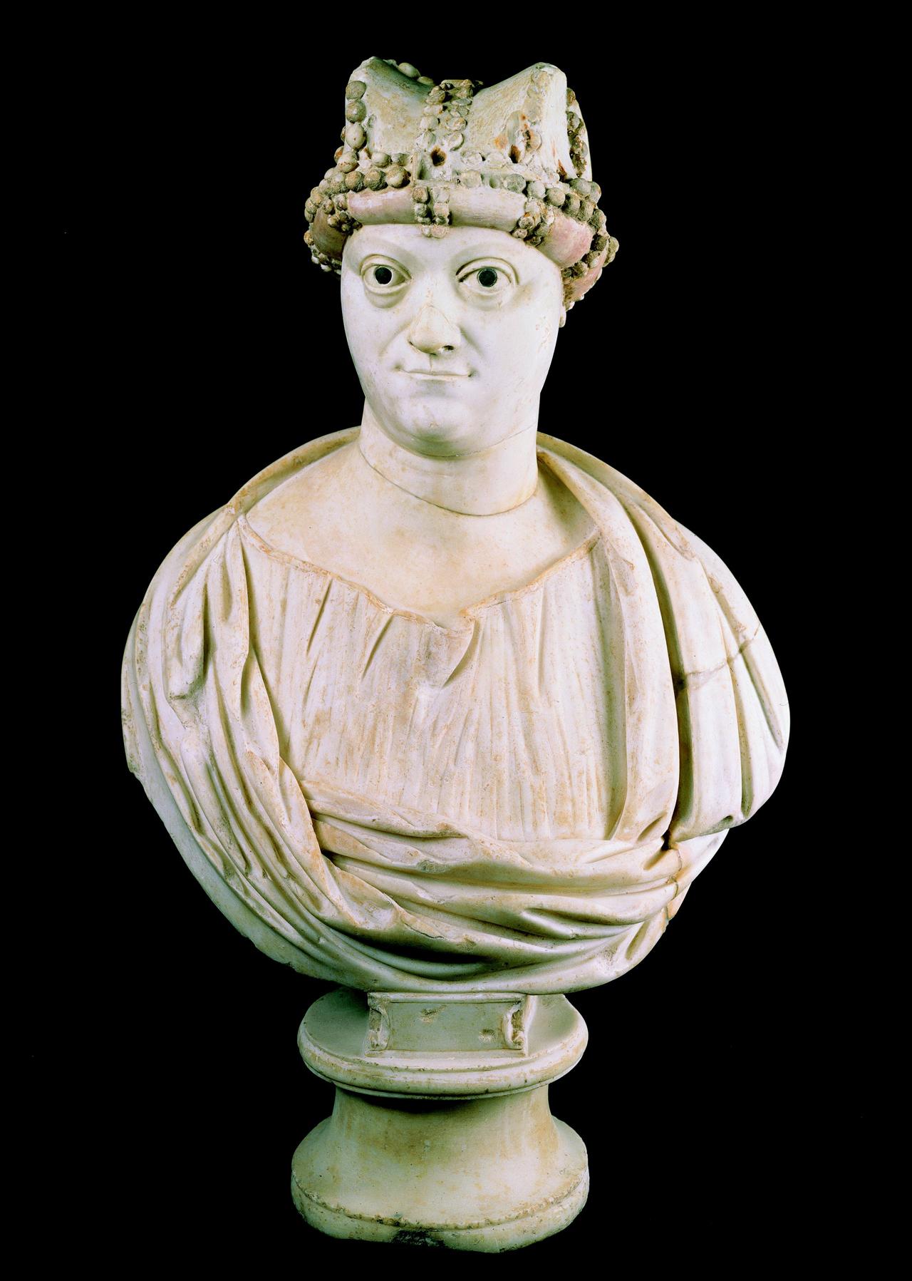 """""""The Byzantine Empress Ariadne"""" (c. 500 CE), marble, h: 70 cm, Museo della Basilica di San Giovanni in Laterno"""