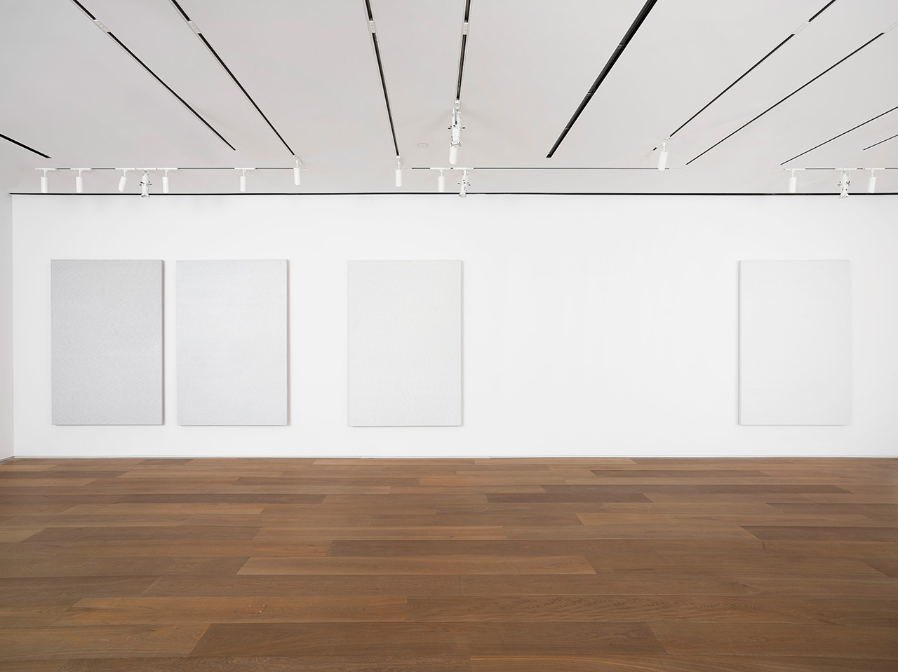 Installation view of Roman Opalka: Painting ∞ at Dominique Lévy Gallery