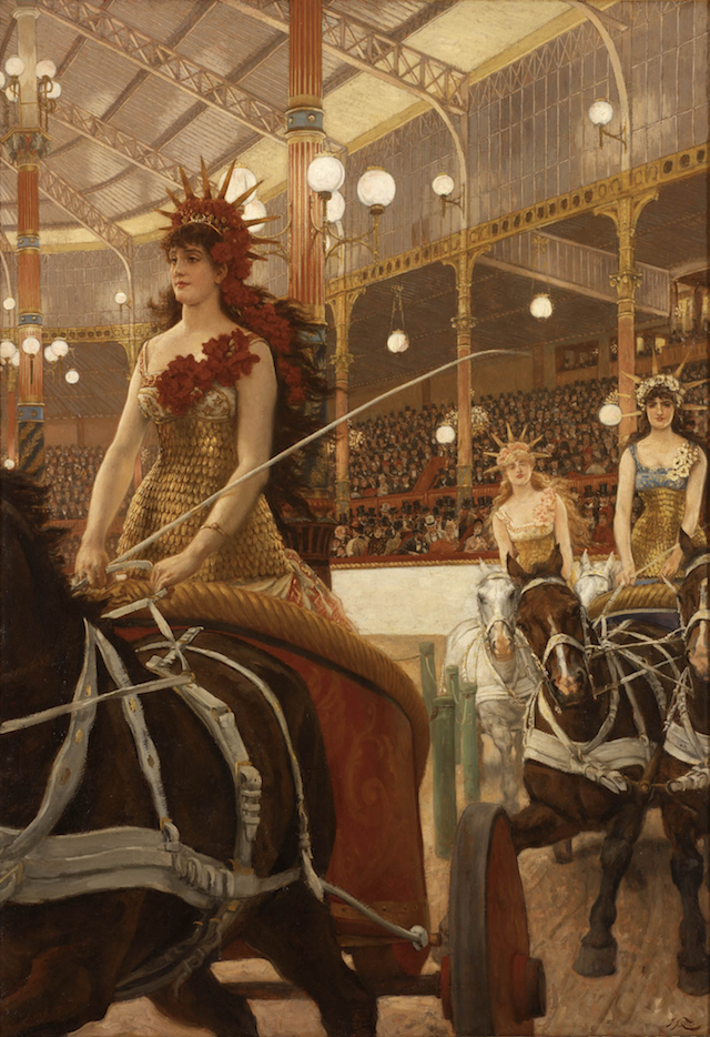 """James Tissot, """"Ladies of the Chariots,"""" ca. 1883-1885. Gift of Mrs. Water Lowry. (Courtesy of the RISD Museum, Providence, RI)"""