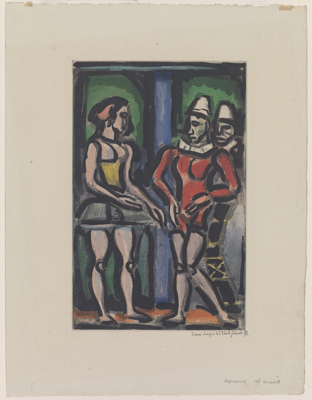 """Georges Rouault, """"Parade,"""" 1934. © Georges Rouault. Gift of the Fazzano Brothers. (Courtesy of the RISD Museum, Providence, RI)"""