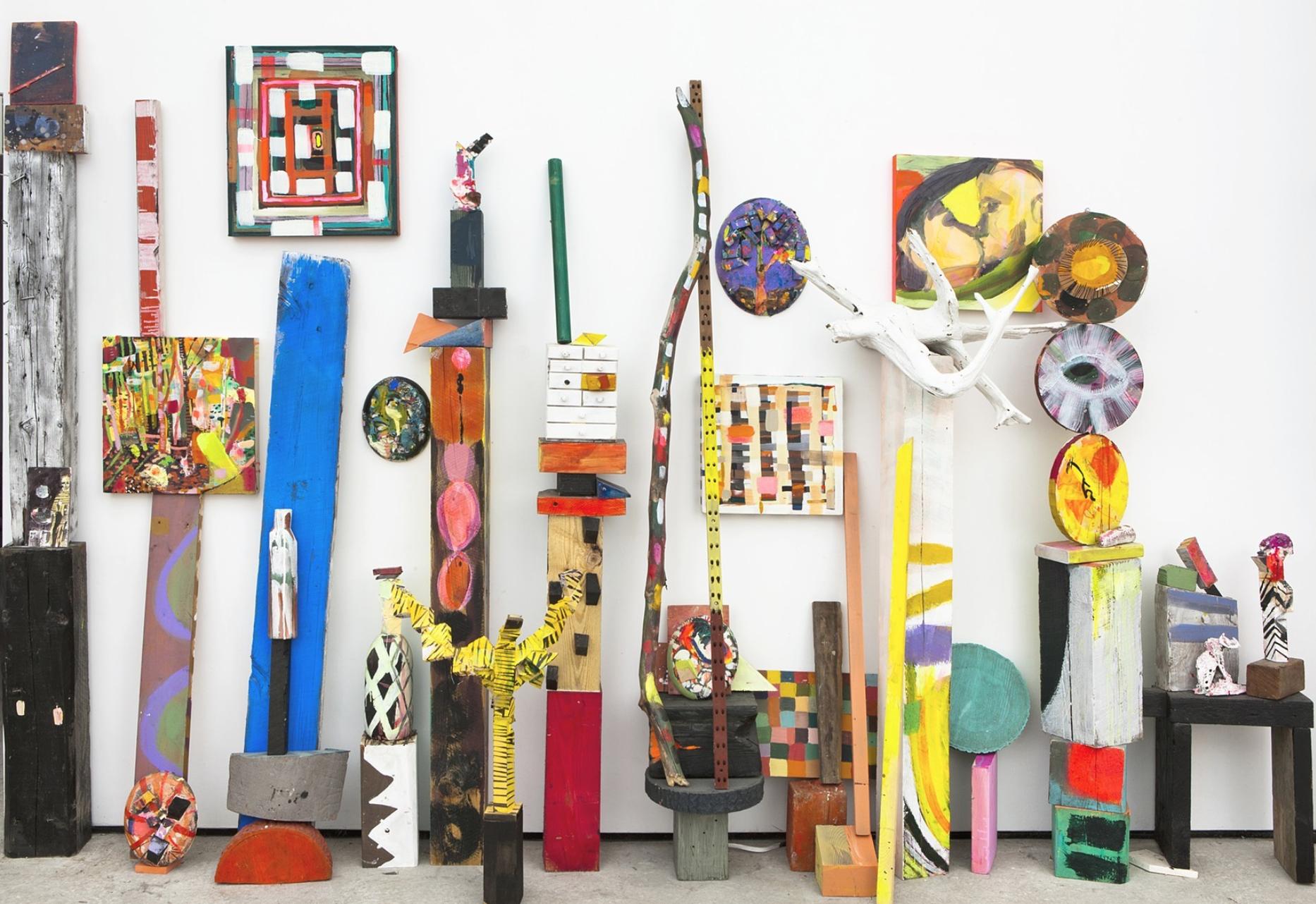 """Emily Noelle Lambert, """"Fortress"""" (2012), wood, plaster, acrylic, variable (via emilynoellelambert.net)"""