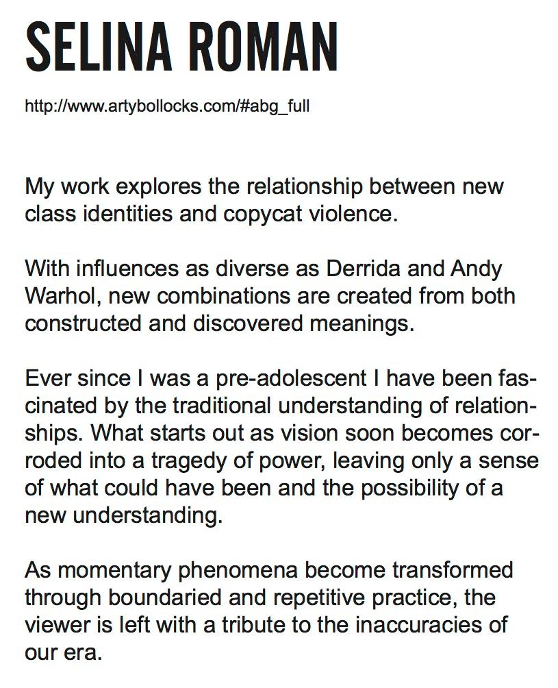 Selina Roman's statement