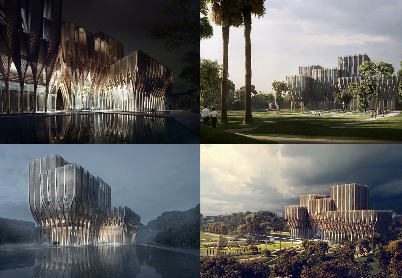 Zaha Hadid has unveiled her designs for a new wooden structure that will house