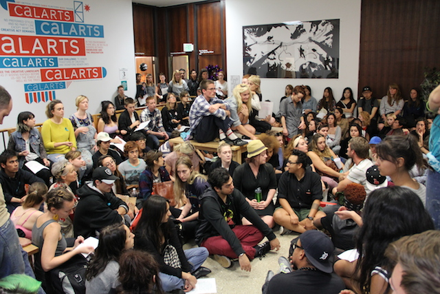 Students sit in offices 2 IMG_9683