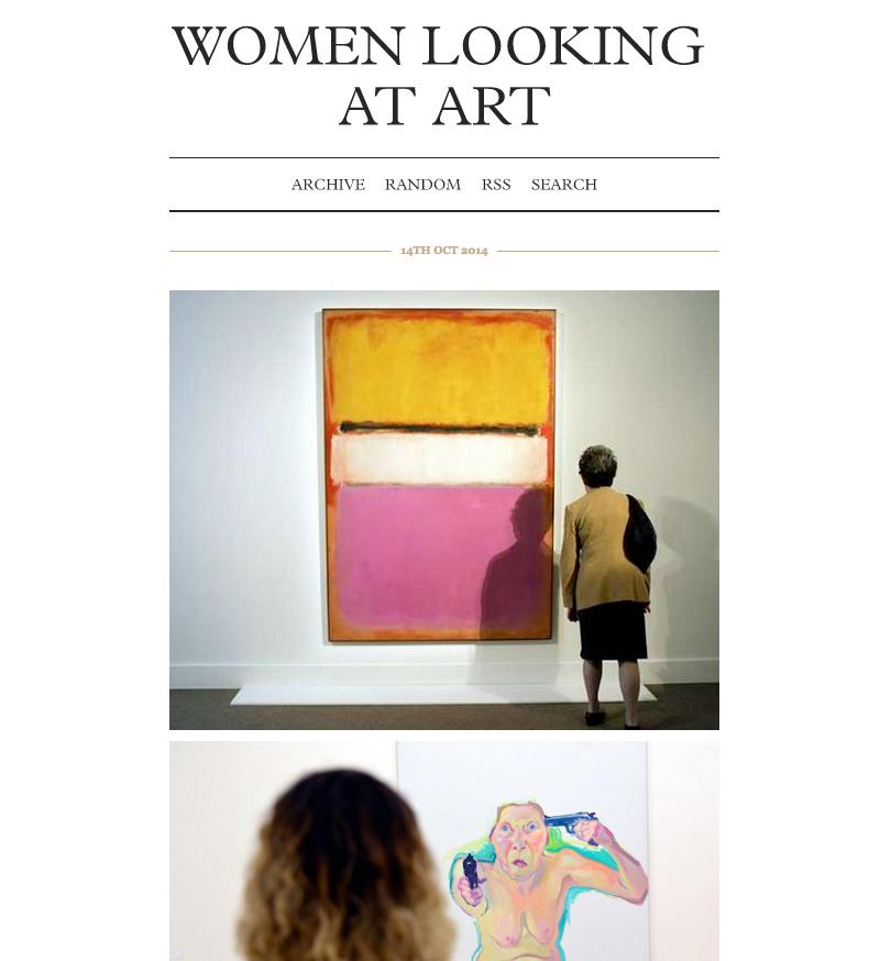 Women Looking at Art (screenshot via womenlookingatart.tumblr.com)