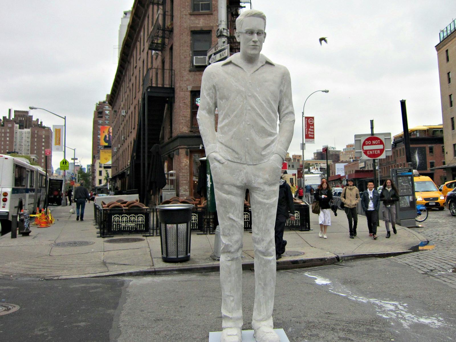 """Jim Dessicino, """"Edward Snowden Statue"""""""