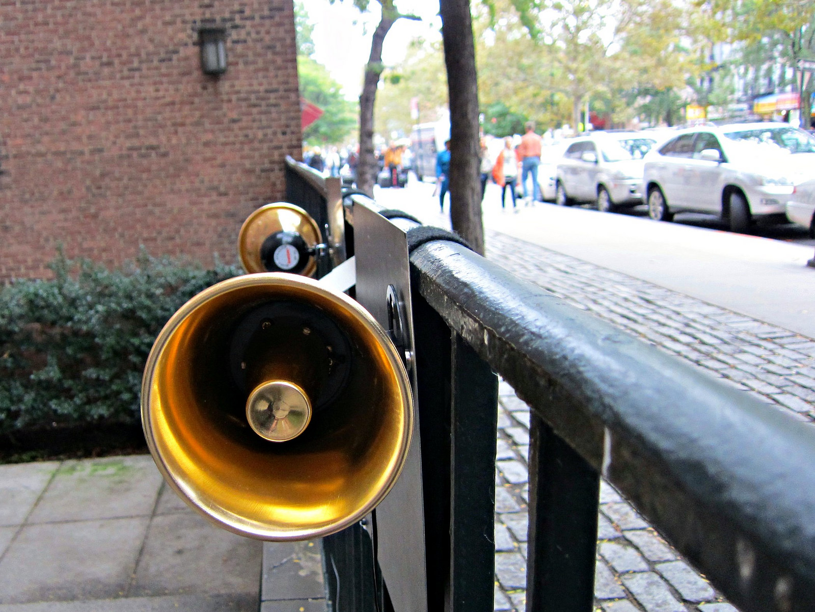 """Jen Reimer and Max Stein, """"Sounding the City,"""" which played the bells from the church on the opposite side of the street"""
