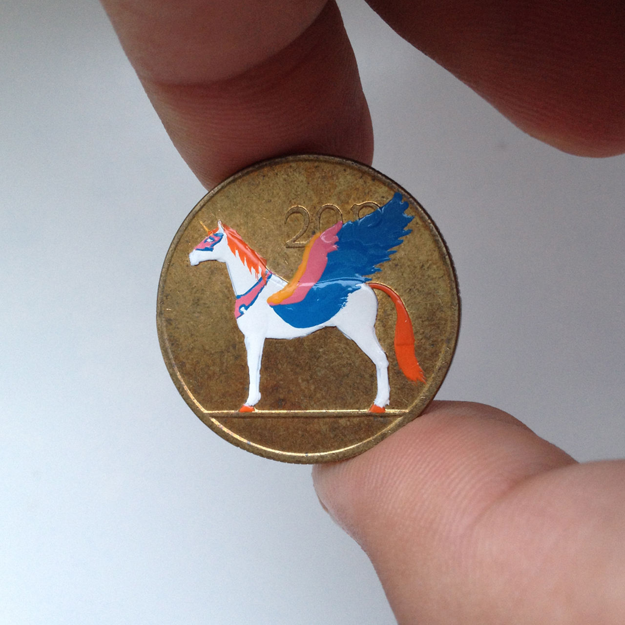 Andre Levy coin painting of Swiftwind