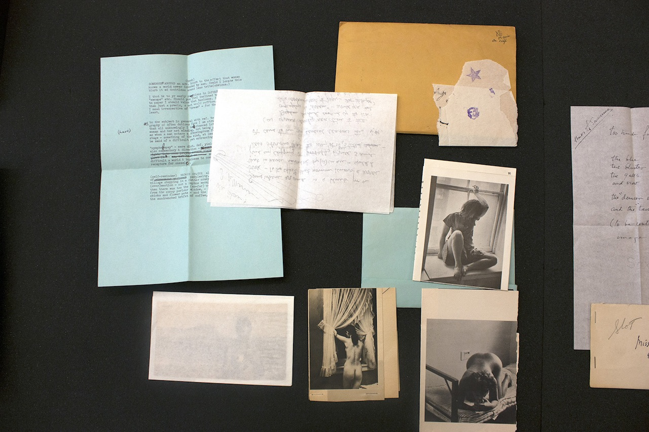 Correspondence between Joseph Cornell and Susanna De Maria Wilson (Image courtesy of the Getty Research Institute)