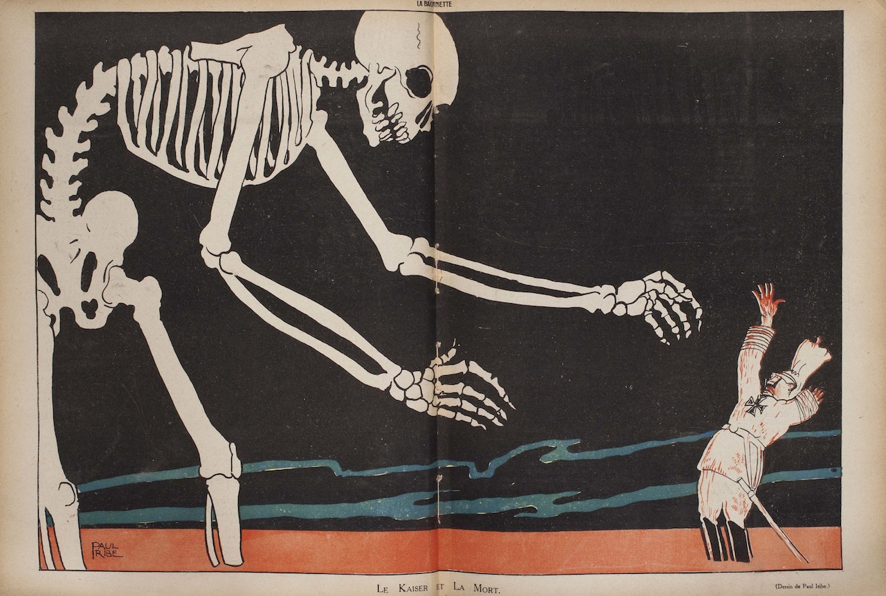 """""""Le kaiser et la mort."""" La baïonnette, 4 novembre 1915"""