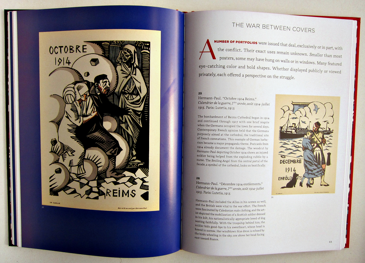 """Inside """"En Guerre"""" (photograph of the book by the author for Hyperallergic)"""