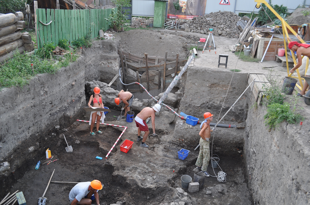 The excavation site in Saratov (All images courtesy of Dmitriy Kubankin)