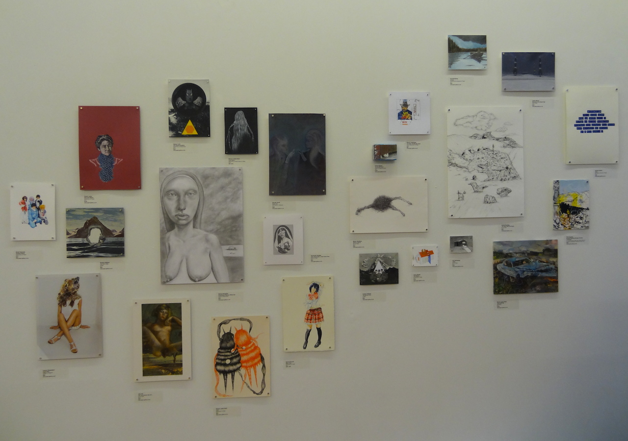 Small works by artists who show with Manchester's Paper at Schema Projects