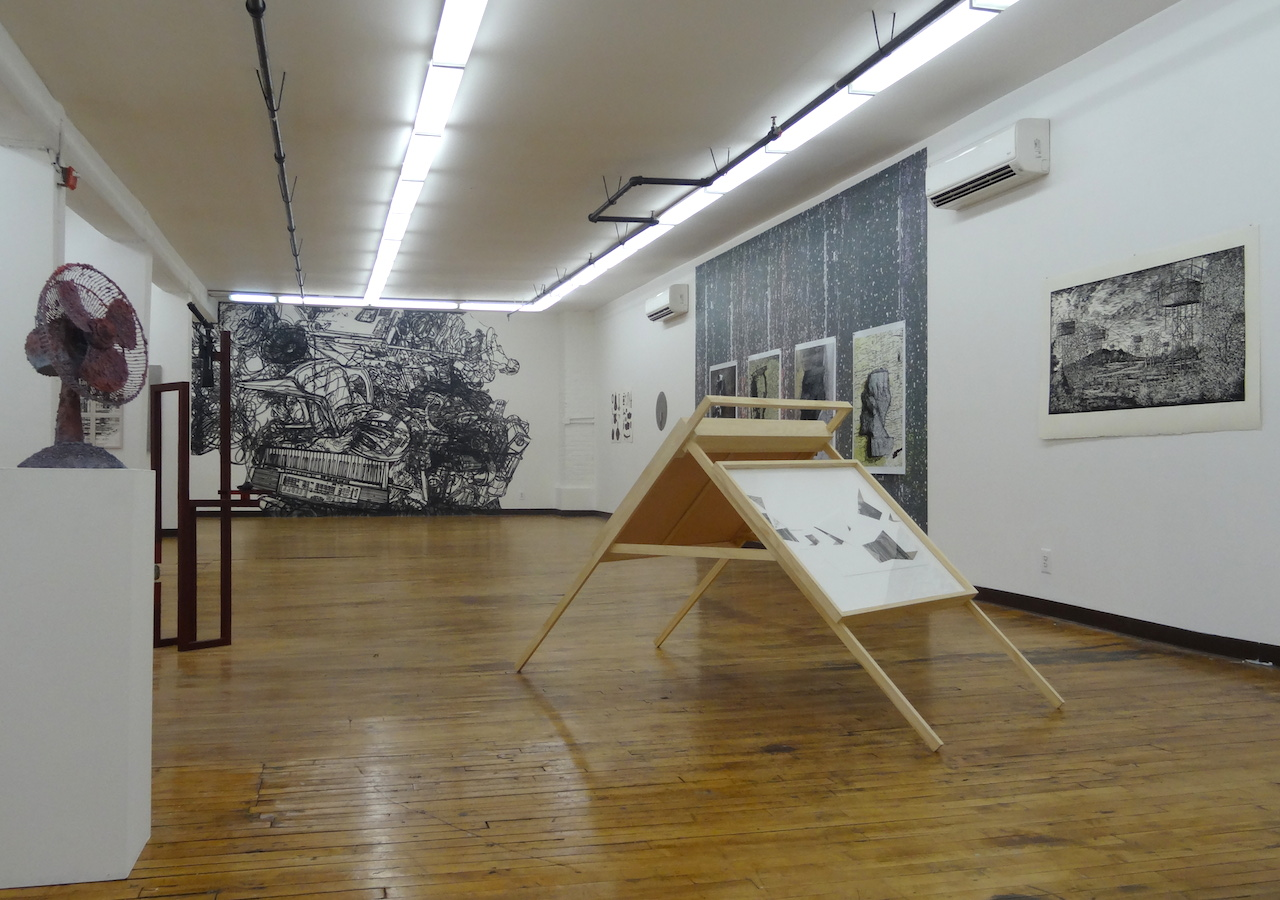 Installation view of works at The Active Space
