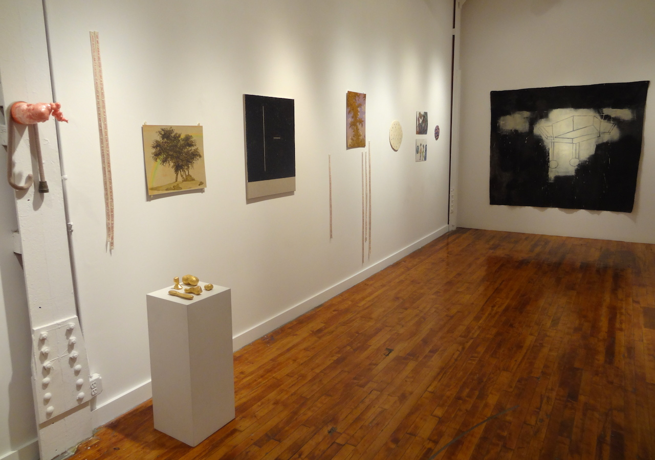 Installation view of works presented by Theodore:Art, Season, and Blackwater Polytechnic at Theodore:Art