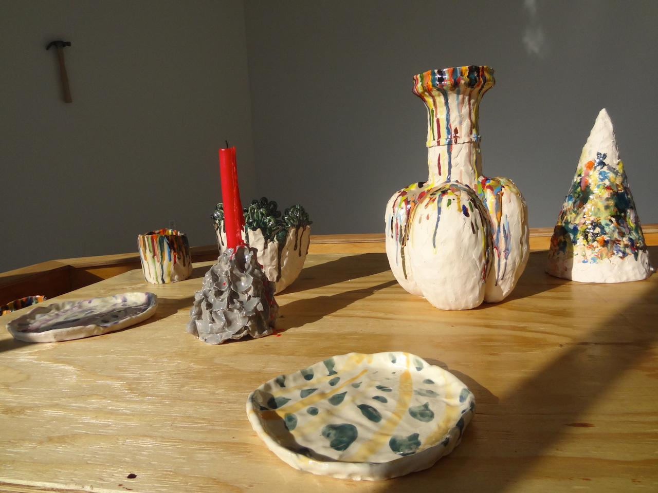 Ceramic sculptures by Nicholas Nyland, presented by Spaceworks, at the Vazquez Building