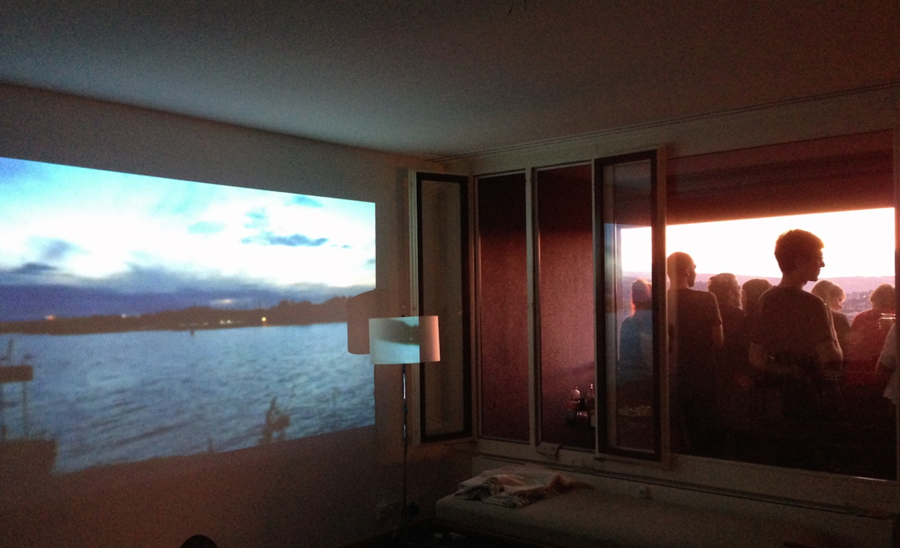 """Installation view of Selina Grüter+Michèle Graf, """"Watch the sunset 5 Helsinki"""" (2014) (all photos courtesy the artists)"""