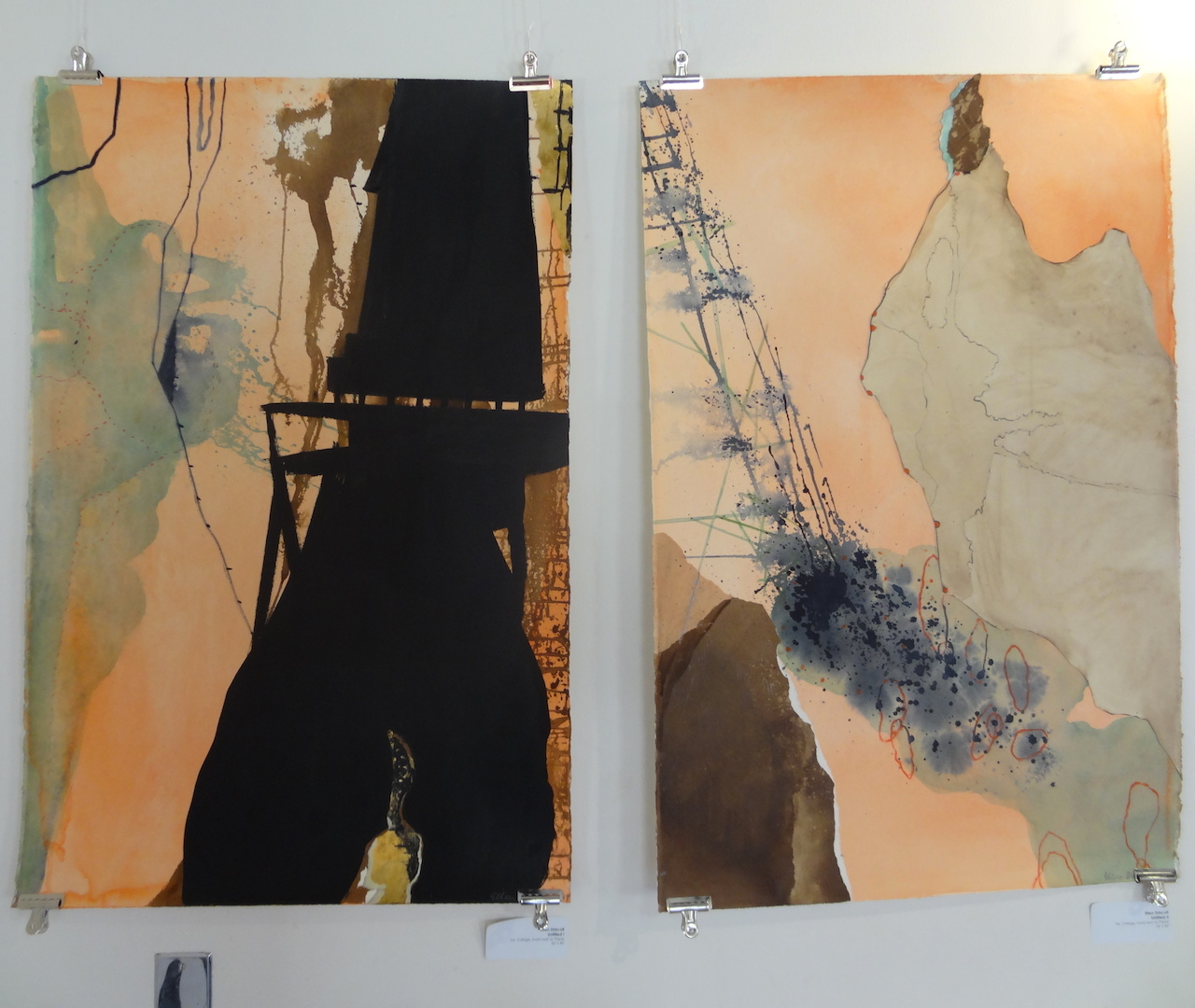 """Ellen Driscoll, """"Untitled I"""" (left) and """"Untitled II"""" (right)"""