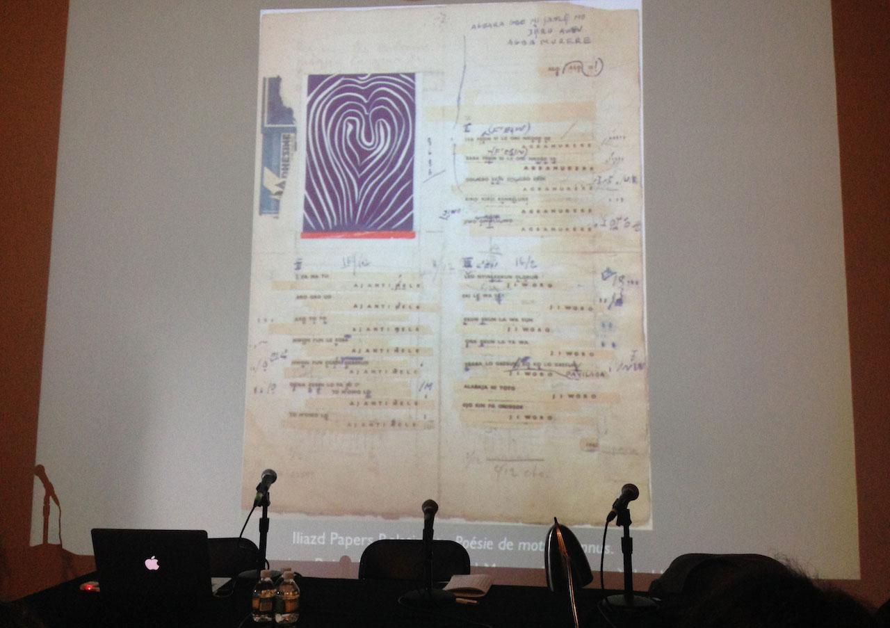 Iliazd, 'Poesie de mots inconnus' (detail, from production) (date unknown) (image courtesy Sheelagh Bevan, 2014)