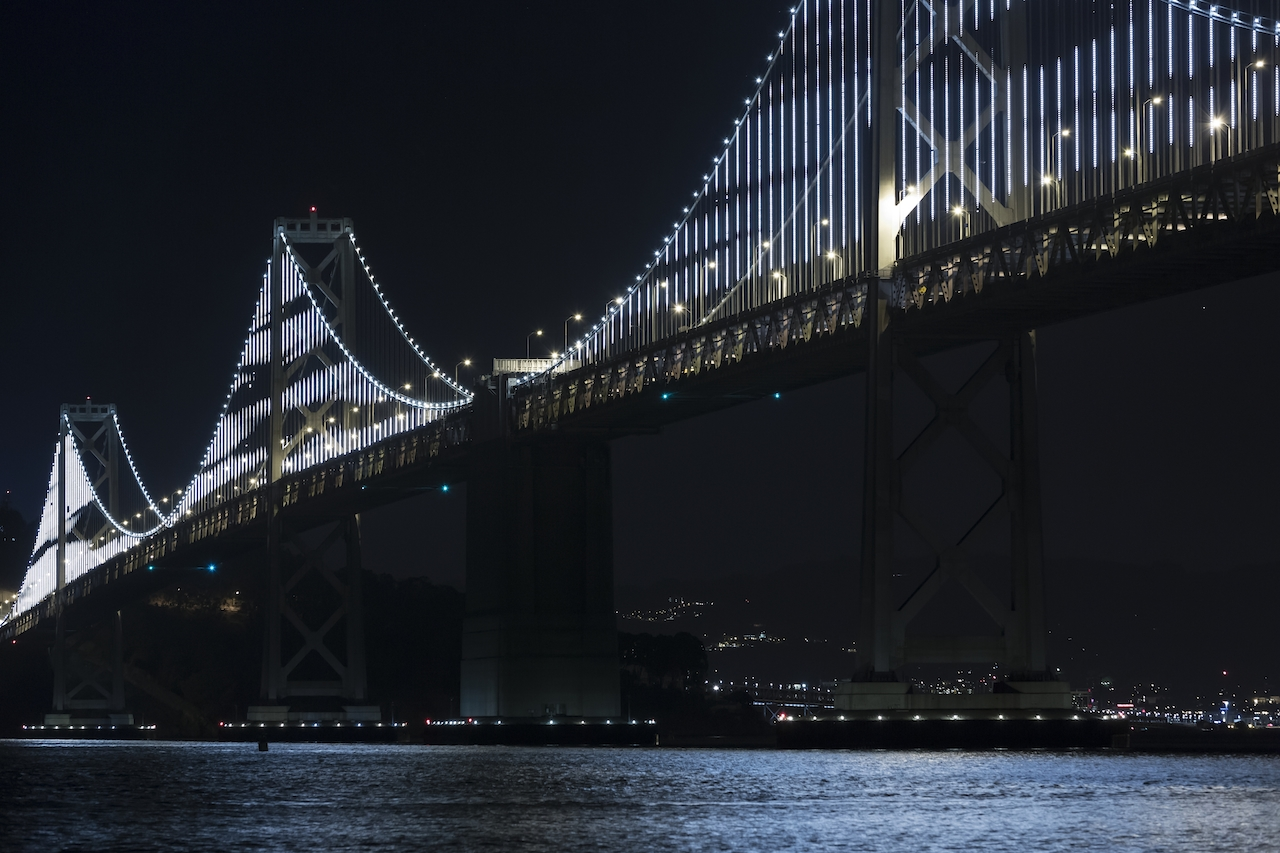 The Bay Lights San Francisco, CA Photograph © James Ewing, 2014, courtesy The Cultural Landscape Foundation.