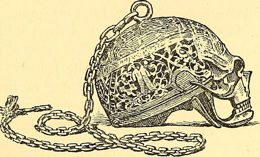 The Mary Queen of Scots skull watch (1896 illustration) (via Internet Archive Book Images)