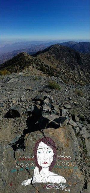 Vandalism by Casey Nocket in Death Valley