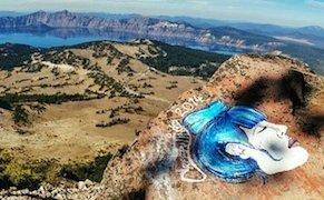 Vandalism by Casey Nocket at Crater Lake