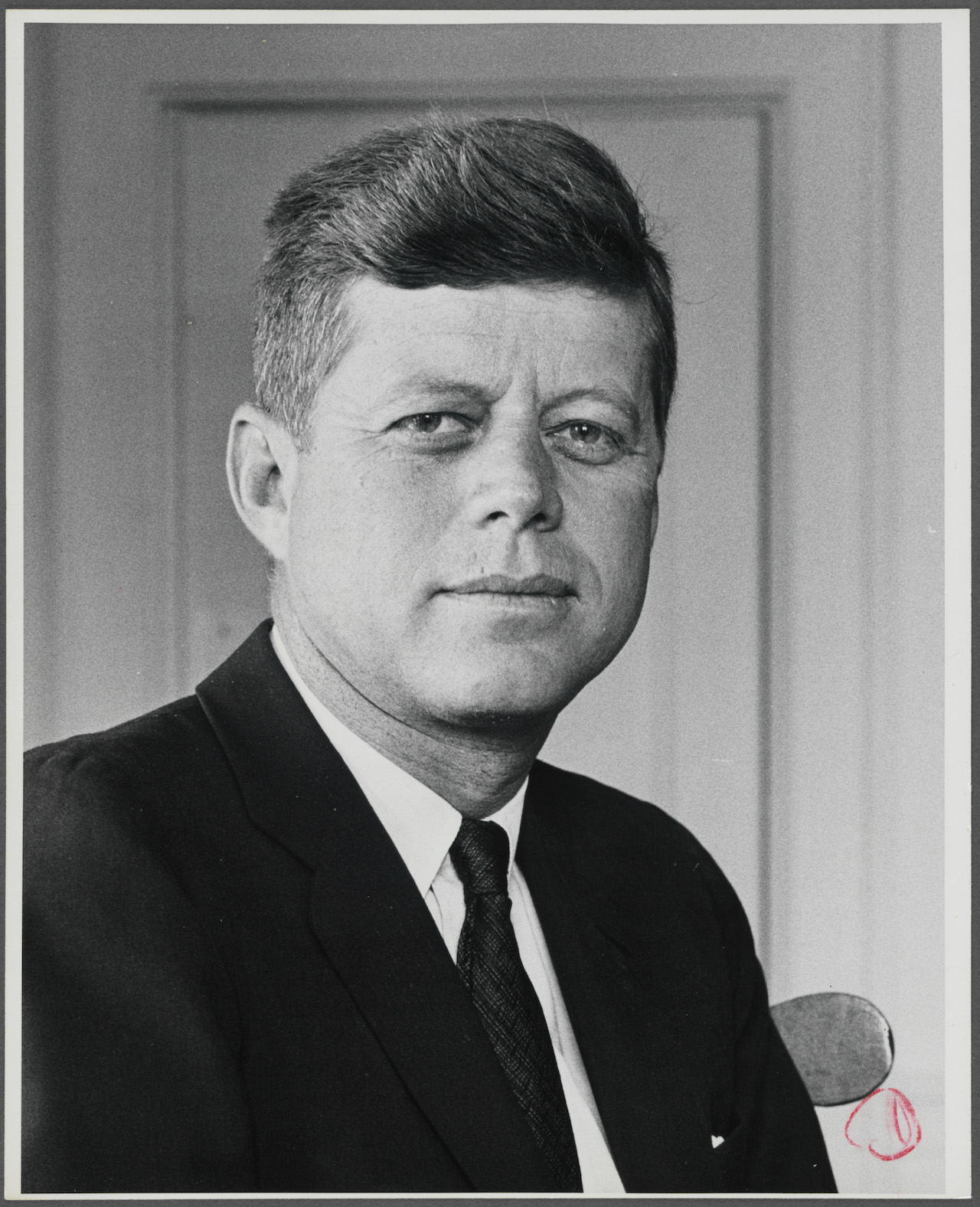 """Norman Rockwell, """"Reference photo for Portrait of John F. Kennedy"""" (1963)"""