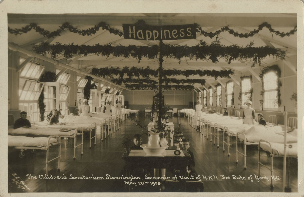 """Happiness"" in a children's hospital ward (all photographs courtesy Woodhorn Museum and Northumberland Archives)"