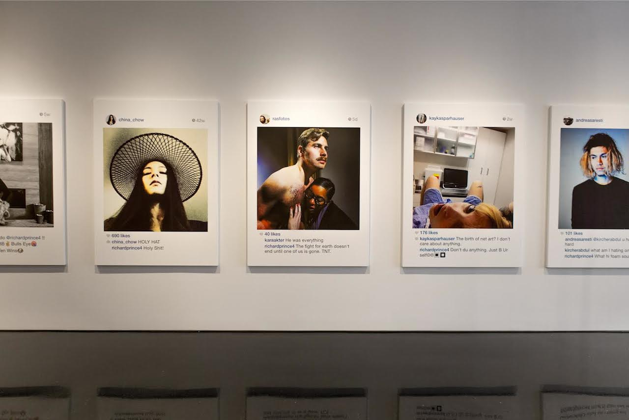 "Installation view, ""Richard Prince: New Portraits"" (2014), Gagosian Gallery, New York (all photos by Sean Fader)"