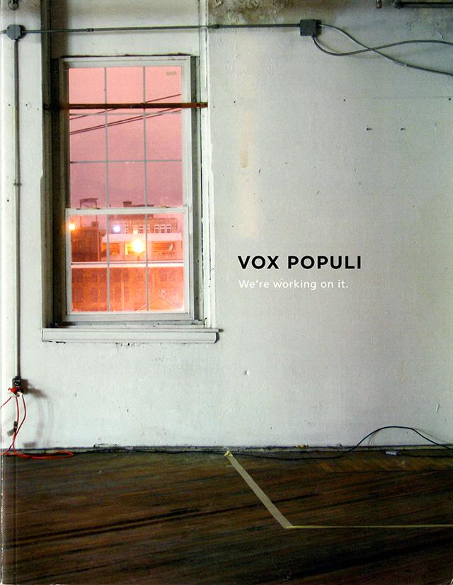 Vox Populi catalogue cover (2010)