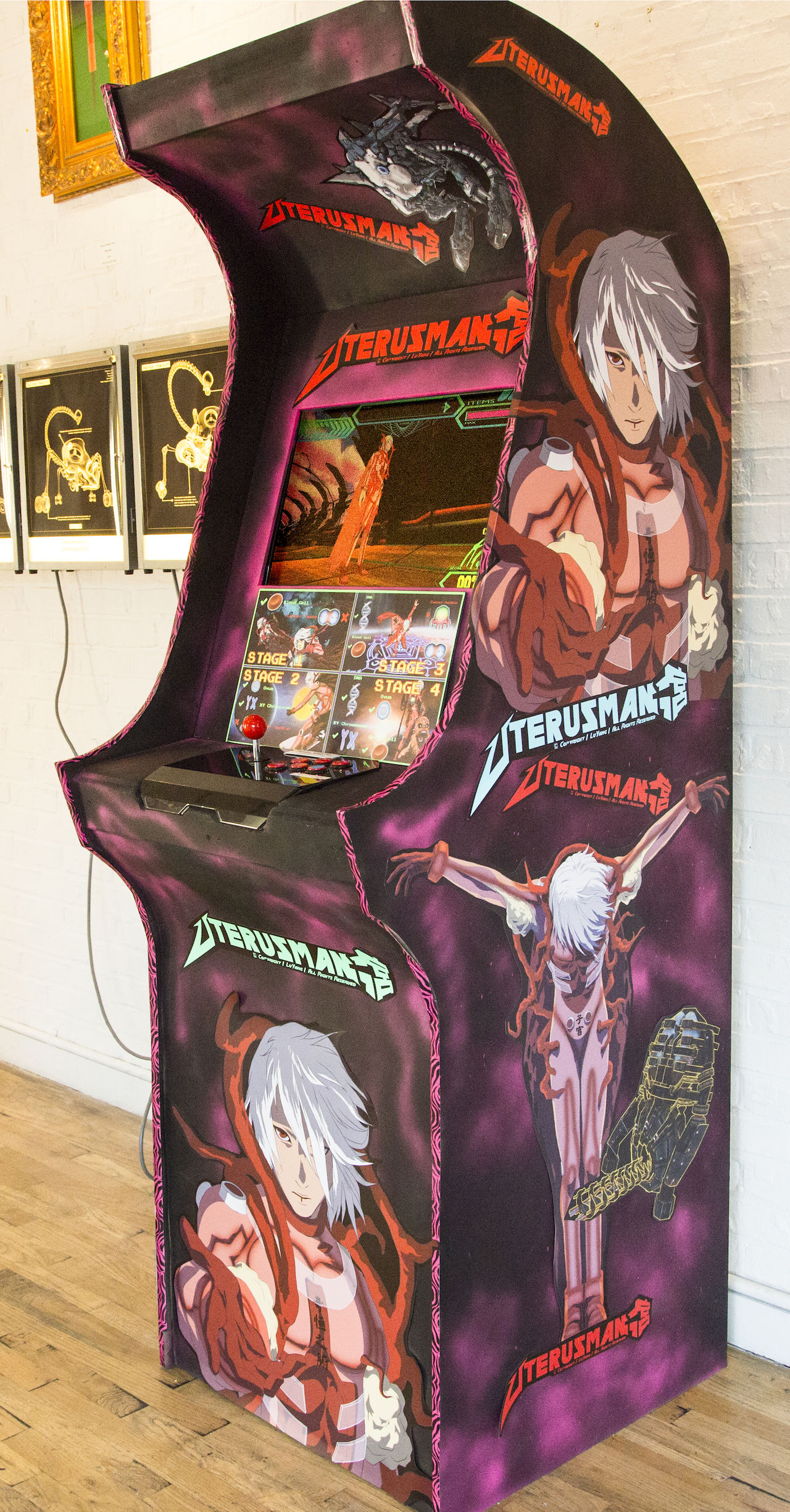 "The ""Uterus Man"" arcade console (photo courtesy the artist)"