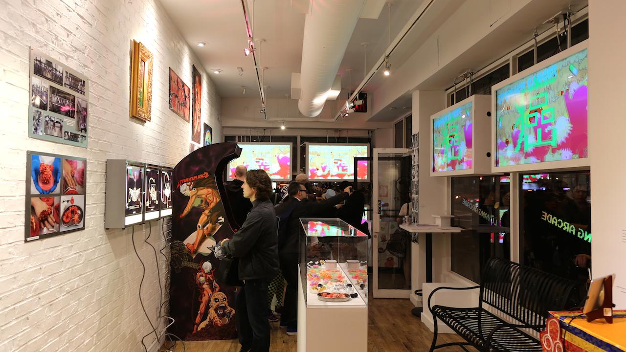 Installation view of 'Yu Lang Arcade' at Wallplay (photo courtesy the artist)