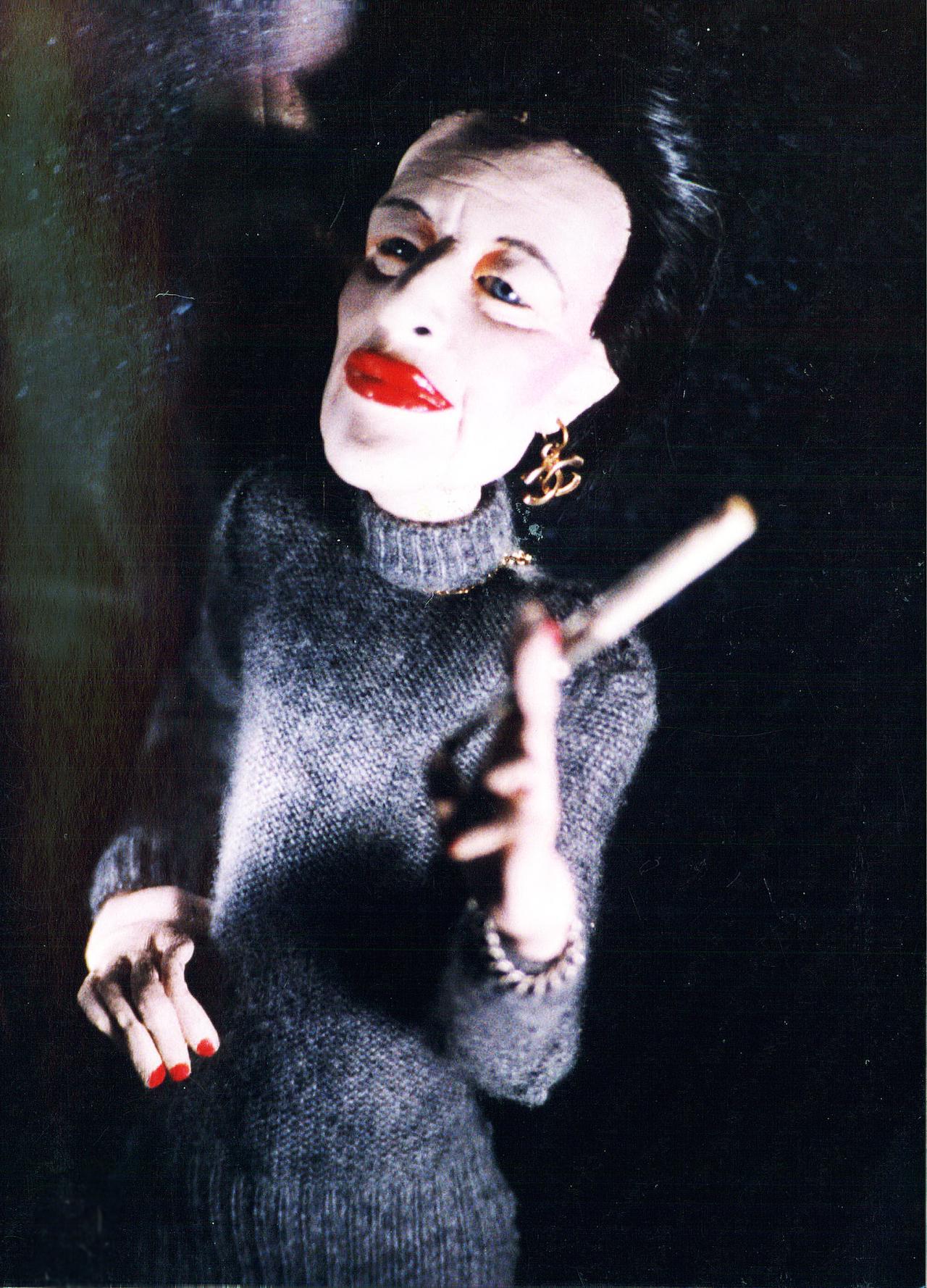 "Greer Lankton, ""Diana Vreeland"" (circa 1989) (photo by Paul Monroe)"