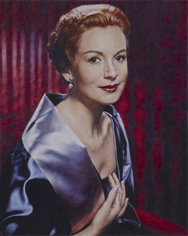 Obituary portrait: Deborah Kerr, 2010, Coloured pencil on paper, 52 x 42 cm
