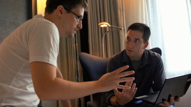 2.) Edward Snowden and Glenn Greenwald in Hong Kong (all photos courtesy Radius-TWC)