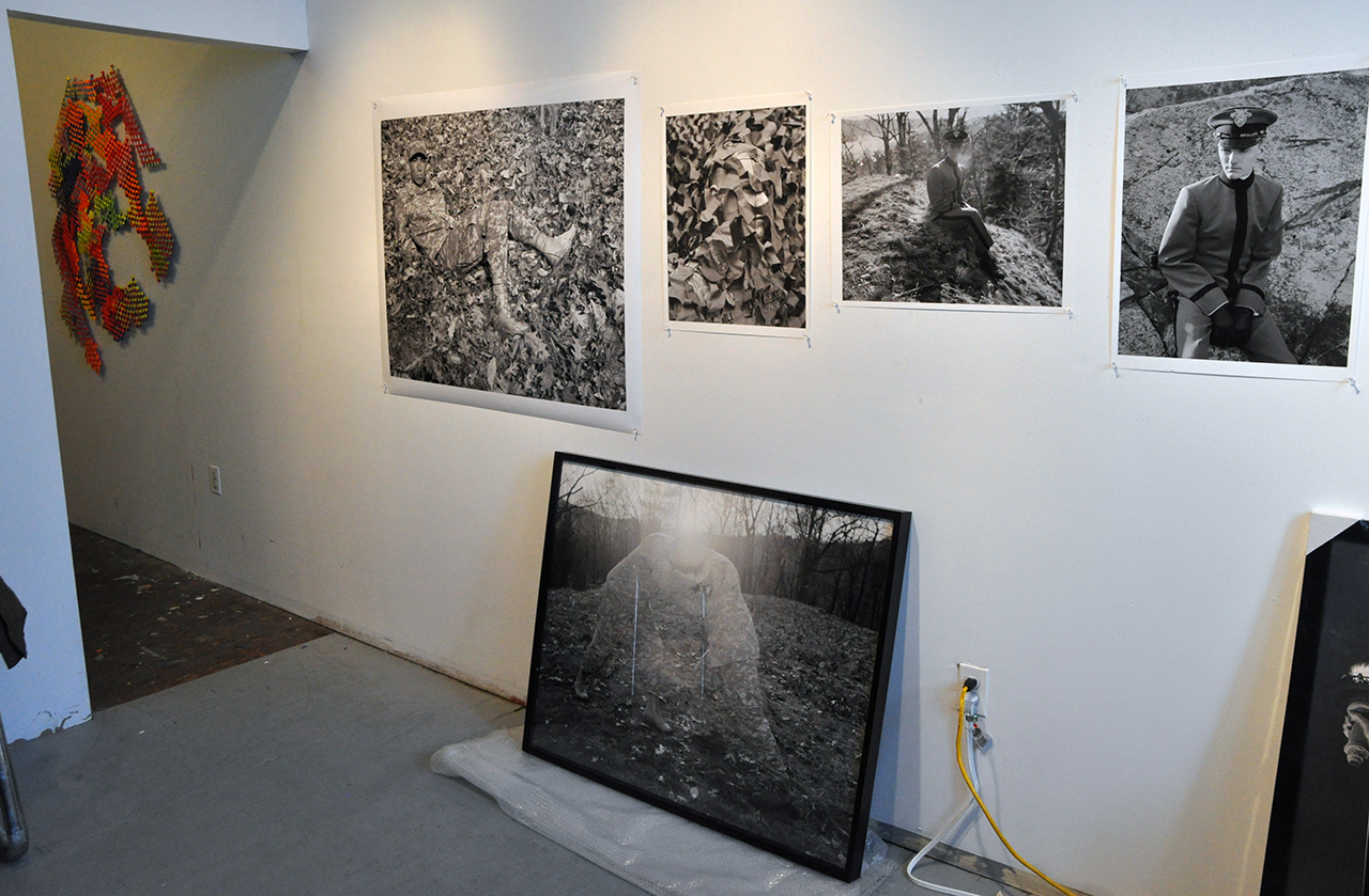 Photographs by Kristine Potter in her Greenpoint studio, 2010 (photo by the author for Hyperallergic)
