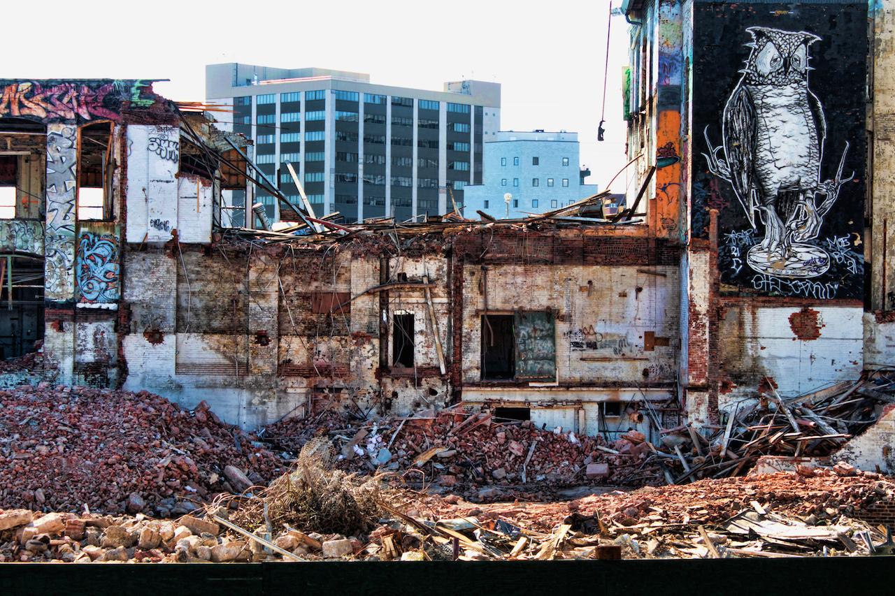 5Pointz mid-demolition (photo by  changsterdam/Flickr)