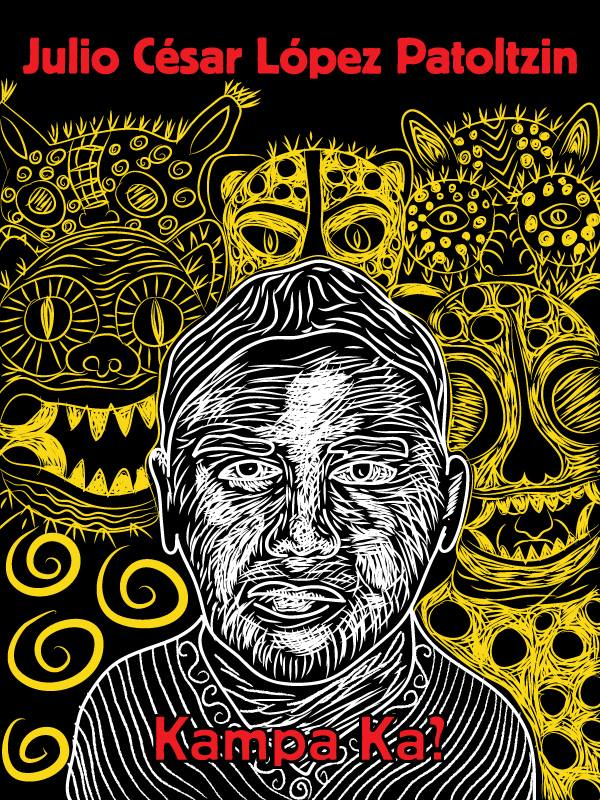 A poster in Nahuatl by the artist Ropalo, part of the #IlustradoresconAyotzinapa project (all poster images via ilustradoresconayotzinapa.tumblr.com)