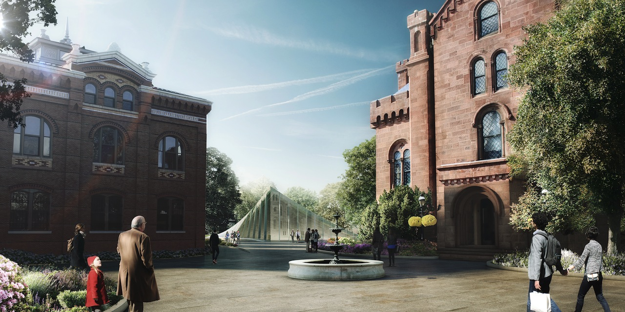 Artist's rendering of the Arts and Industries Building entrance (Image courtesy of the Smithsonian)