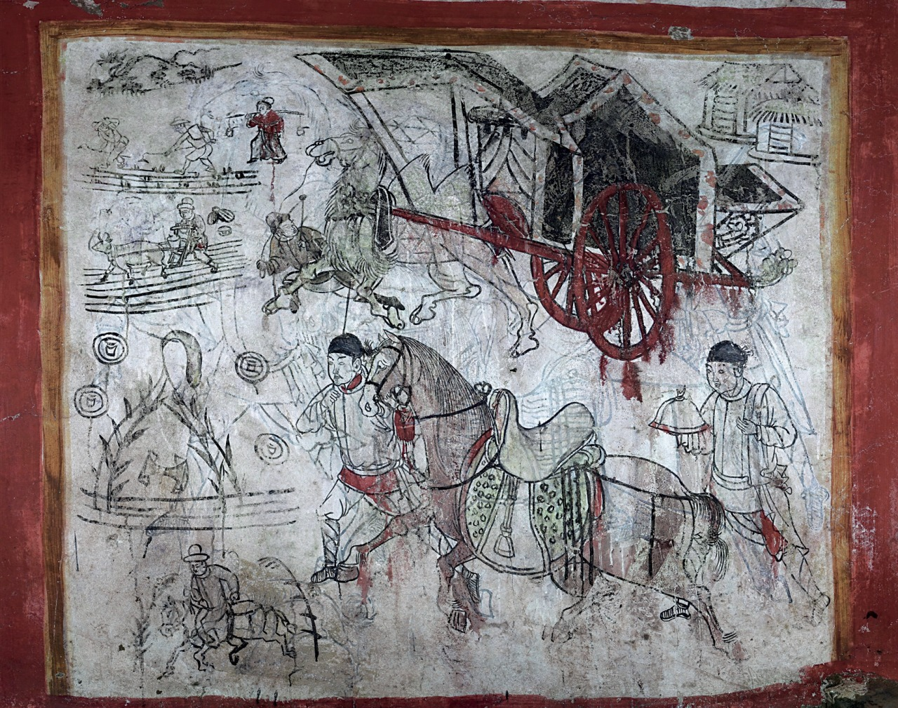 Visions of heaven and earth in an ancient chinese tomb for Chinese mural painting