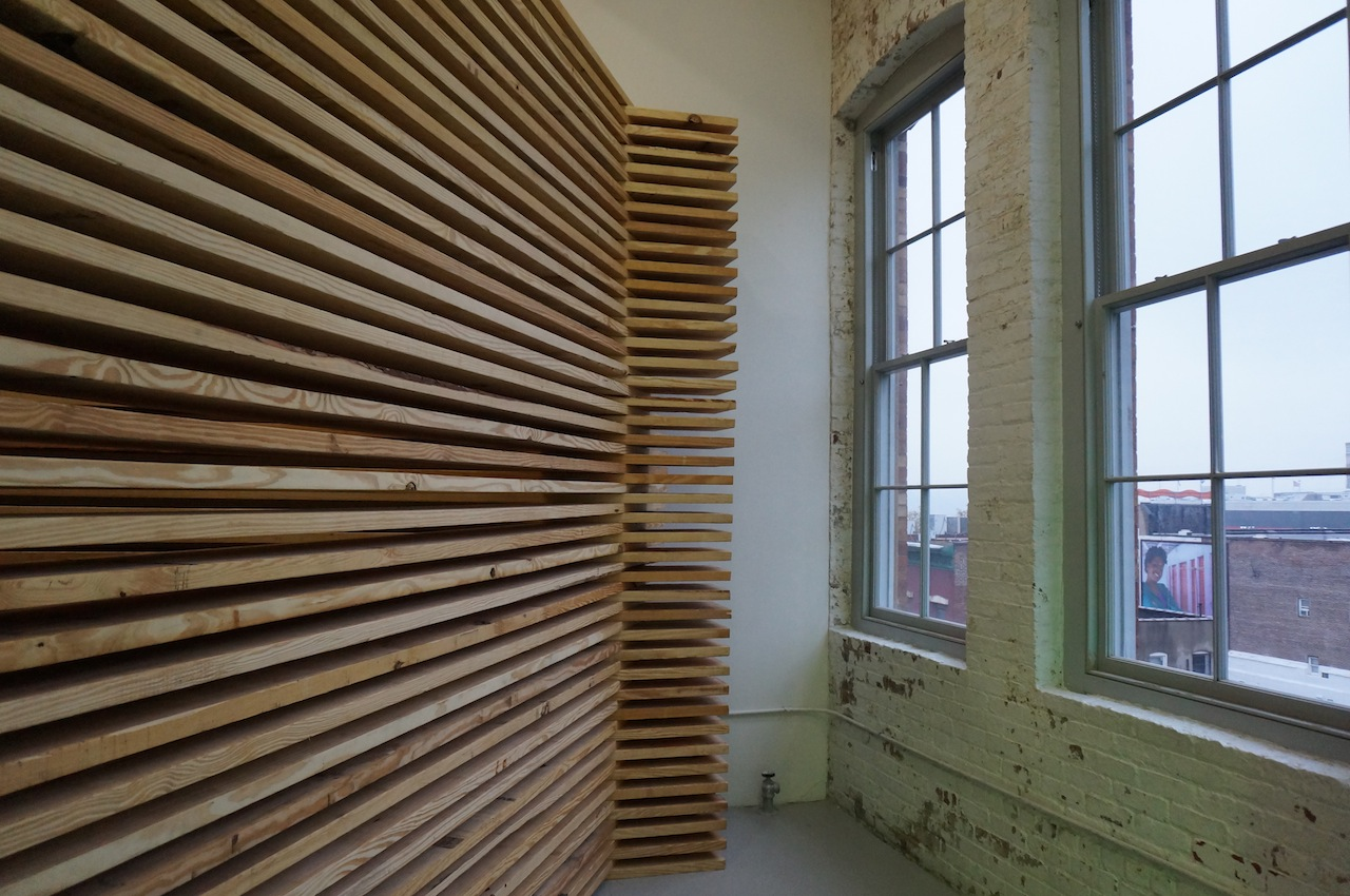 A work by Virginia Overton, with Mitchell Innes & Nash