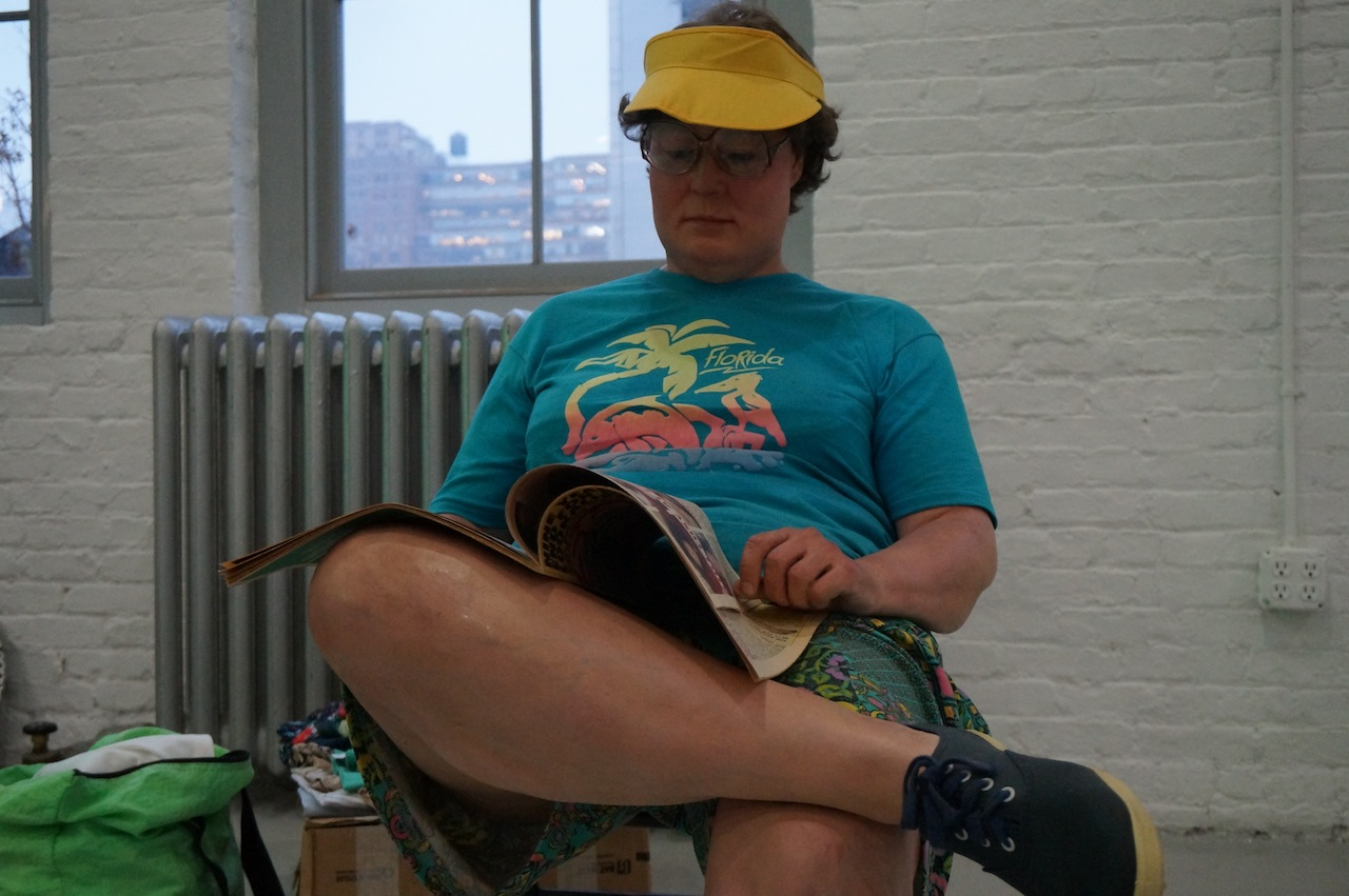 "Detail of Duane Hanson's ""Flea-Market Lady"""
