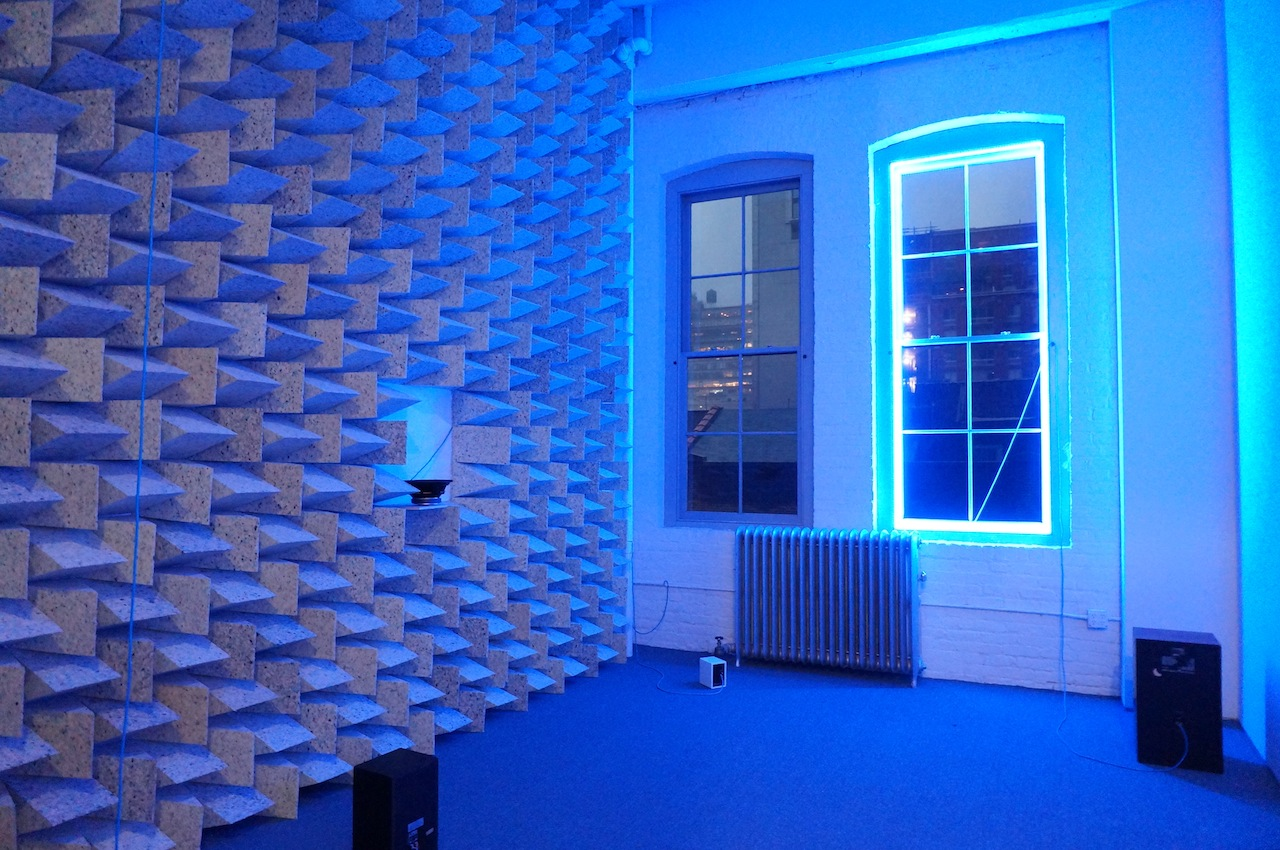 """Haroon Mirza's """"Access Boot"""" (2014), at Lisson Galery"""