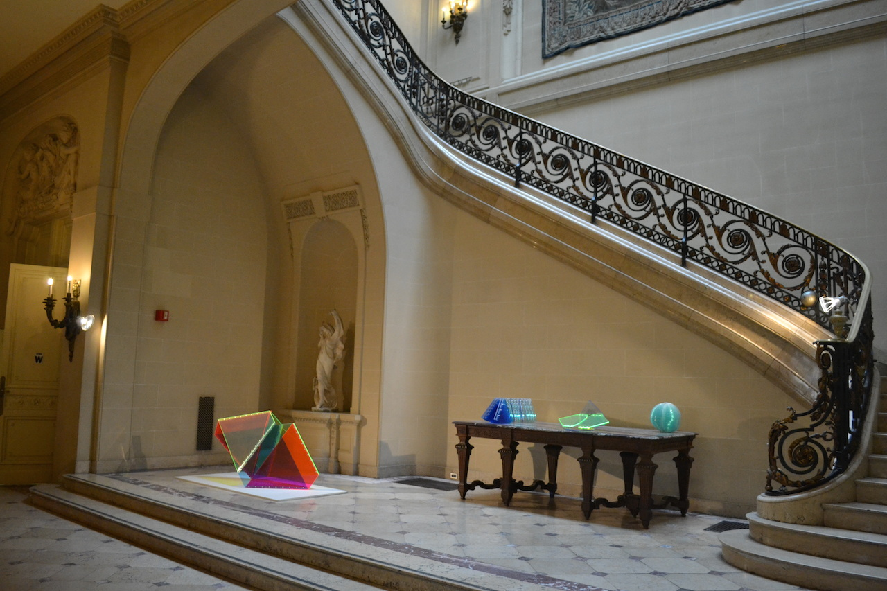 Installation view,  'EXPAND//FOLD//COLLAPSE// Sculptures by Marta Chilindron' at the Institute of Fine Arts (all photos by Katharine J. Wright)