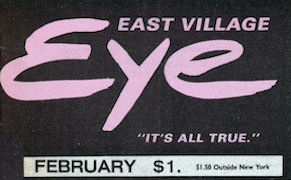 The January 1982 issue of The East Village Eye